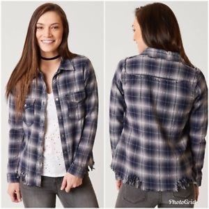 Buckle Gilded Intent Plaid Distressed Metallic